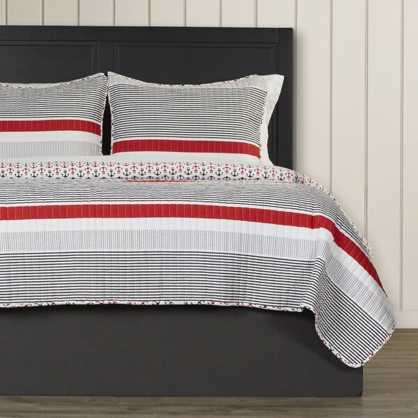 Chani 100% Cotton Reversible Quilt Set by Beachcrest Home